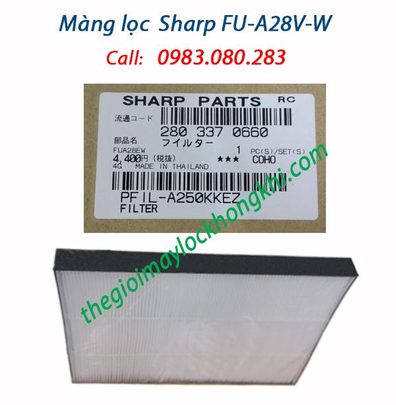 Màng lọc HEPA máy lọc không khí sharp fu-a28ev-w, air filter sharp fu-a28ev-w